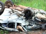 TRAGÉDIA NA BR 163 - Choque entre dois carros deixa três mortos