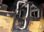 Sinop - Vinte e oito veículos são destruídos pelo fogo em canteiro de obras de empresa