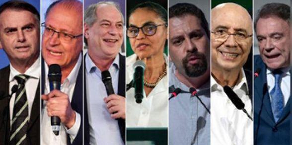 Oito candidatos vão participar de 1º debate da eleição presidencial
