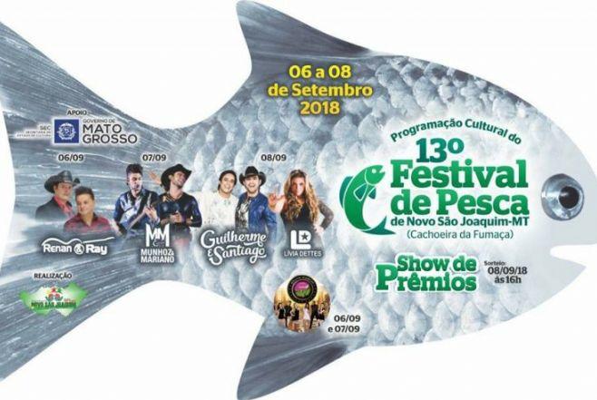 13° Festival de Pesca em Novo São Joaquim será realizado de 6 a 8 de setembro