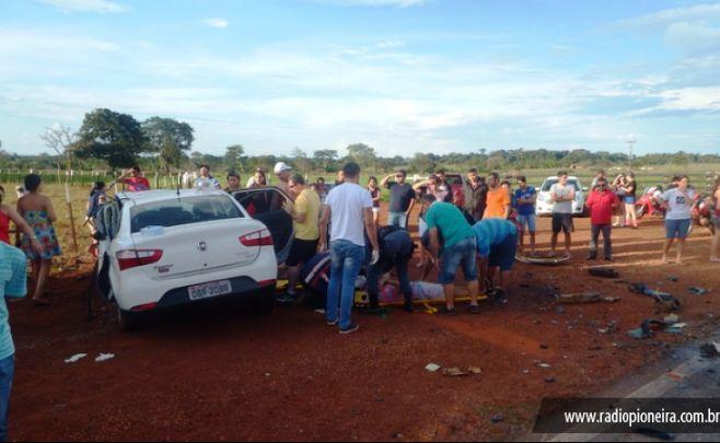 Tangar� da Serra: seis pessoas morrem em colis�o frontal na MT 358