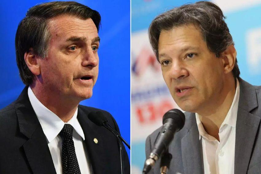Bolsonaro tem 33% dos votos e Haddad vai de 16% para 23