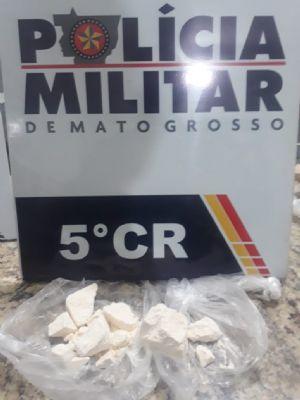 PM apreende adolescente de Água Boa com cocaína avaliada em 10 mil reais em Barra do Garças