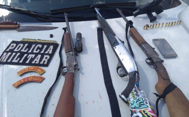 Suspeito de assassinar jovem dentro de ônibus em Serra Dourada é preso pela PM caçando animais silvestres