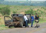 Acidente entre S10, carreta e caminhão na BR 158 em Água Boa deixa motorista ferido